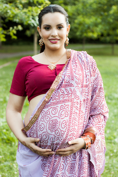 Indian theme maternity photo session